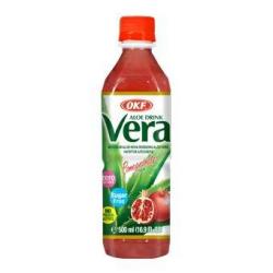 Okf Aloe Vera  χωρίς ζάχαρη ρόδι 500ml