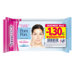 Pom Pon All Skin Micellaire Travel Duopack 2x10 (-1,30€)