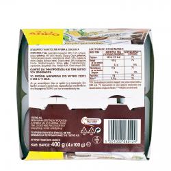 ΓΙΩΤΗΣ Ψυγείου Άνθος Αραβοσίτου Κρέμα & Σοκολάτα 4x100γρ. (3+1Δώρο)
