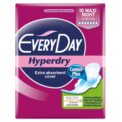 Σερβιέτα EveryDay Hyperdry Ultra Plus MAXI NIGHT 10 TEM
