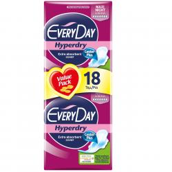 Σερβιέτα EveryDay Hyperdry Ultra Plus MAXI NIGHT ECONOMY 18 ΤΕΜ