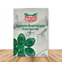 Καγιά βαφή αυγών πράσινο
