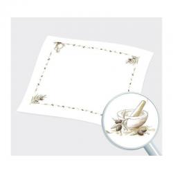Τραπεζομάντηλο Spark λευκό ελιά 1,00μ x 1,00μ 200 τεμαχίων