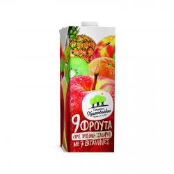 Χριστοδούλου οικογ. 9 φρούτα με 7 βιταμίνες 1lt