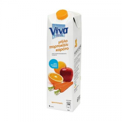 Viva Fresh φρουτοποτό καρότο μήλο πορτοκάλι 1lt