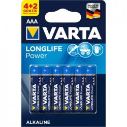 Μπαταρία Varta long life power alkaline 3AAA 4+2Δώρο 6άδα