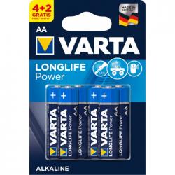 Μπαταρία Varta long life power alkaline 2AA 4+2Δώρο 6άδα