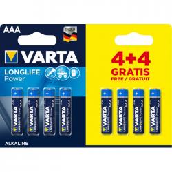 Μπαταρία Varta long life power alkaline 3AAA 4+4Δώρο 8άδα