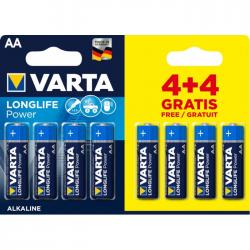 Μπαταρία Varta long life power alkaline 2AA 4+4Δώρο 8άδα