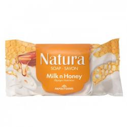 Σαπούνι Papoutsanis Natura Μέλι - Γάλα 90γρ.