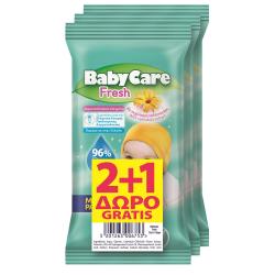Μωρομάντηλα BabyCare Fresh minipack 12τεμ (2+1Δώρο)