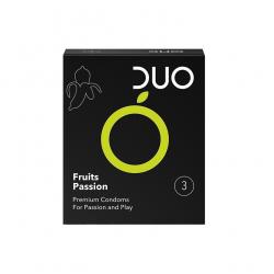 Προφυλακτικό Duo γεύσεις φρούτων 3τεμ