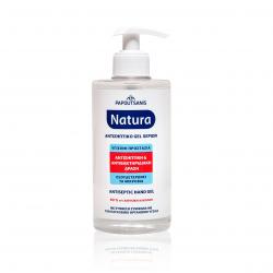 Αντισηπτικό gel Papoutsanis natura με αντλία 400ml