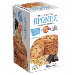 Βιολάντα μπισκότα Βρώμης χωρίς ζάχαρη με μαύρη σοκολάτα 200γρ.