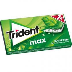 Τσίχλα Trident MAX Δυόσμος 27γρ. 1€