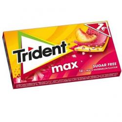 Τσίχλα Trident MAX Ροδάκινο Καρπούζι 27γρ. 1€