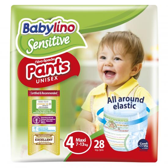 Πάνες βρακάκι Babylino Pants Value Pack No4 7-13KG / 28T Maxi