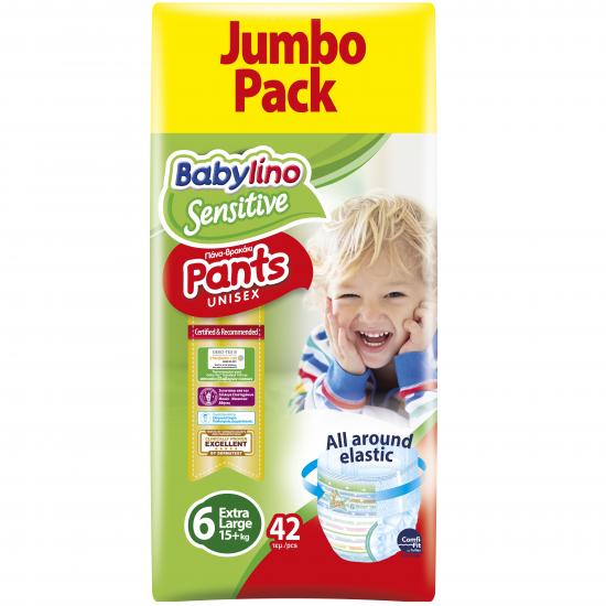 Πάνες βρακάκι Babylino Pants Economy Value Pack No6 13-18 KG / 42T Extra Large