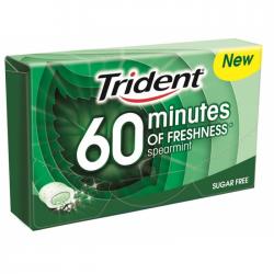Τσίχλα Trident 60min δυόσμος 20γρ. 1€