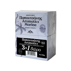 Σαπούνι Papoutsanis aromatics Marine 125γρ. (3+1Δώρο)