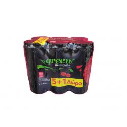 Green Cola Βυσσινάδα 330ml (5+1 Δώρο)