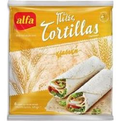 Alfa πίτα tortilla Κλασσική 6τεμ 370γρ.