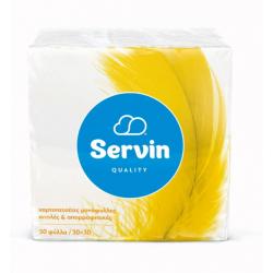 Servin quality χαρτοπετσέτες 1φυλλο 30cmx30cm 50τεμ. 76,5γρ.