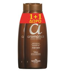 Αφρόλουτρο Papoutsanis aromatics Tabac 650ml (1+1Δώρο)